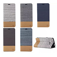 billige Etuier/deksler til Samsung-Etui Til Samsung Galaxy Samsung Galaxy Etui Kortholder med stativ Flipp Heldekkende etui Helfarge PU Leather til Grand Prime E7 E5 Core
