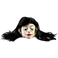 저렴한 -코스프레 / 할로윈 의상 파티를 위해 긴 머리 하얀 얼굴 유령 고무 마스크