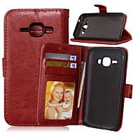 Mert Samsung Galaxy tok Kártyatartó / Pénztárca / Állvánnyal / Flip Case Teljes védelem Case Egyszínű Műbőr SamsungJ7 / J5 / J1 / Grand