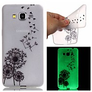 voordelige Galaxy Grand Prime Hoesjes / covers-Voor Samsung Galaxy hoesje Glow in the dark / Patroon hoesje Achterkantje hoesje Paardenbloem TPU SamsungJ3 / J1 Ace / Grand Prime /