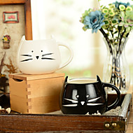 "abordables Cocina y Comedor-Taza creativa del agua del gato lindo blanco y negro de 300ml taza del agua (5.1 ""x4.3"" x3.7 "")"