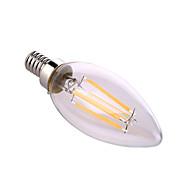 olcso LED gyertyaizzók-ywxlight® e12 ledes gyertyafény a60 (a19) 4 cob 640 lm meleg fehér természetes fehér dekoratív ac 110-130 v
