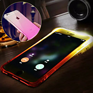 Недорогие Кейсы для iPhone 8 Plus-Кейс для Назначение Apple iPhone X iPhone 8 iPhone 8 Plus iPhone 6 iPhone 6 Plus Защита от влаги Мигающая LED подсветка Кейс на заднюю