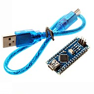 olcso Arduino tartozékok-nano 3,0 ATMEL atmega328p mini-USB fedélzeti w / usb kábel Arduino