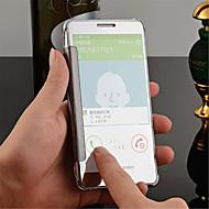 Недорогие Чехлы и кейсы для Galaxy A8-Кейс для Назначение SSamsung Galaxy Кейс для  Samsung Galaxy Зеркальная поверхность Флип Прозрачный Кейс на заднюю панель Сплошной цвет ПК
