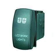 Недорогие Выключатели-iztoss 5pin лазера привело свет работы тумблер включения-выключения света привело 20а 12v синий с проводами для установки