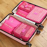 6 conjuntos Bolsa de Viagem / Organizador de viagens / Organizador de Mala Grande Capacidade / Portátil / Dobrável Sutiãs / Roupas Tecido Oxford Exterior / Viagem / Para a Casa