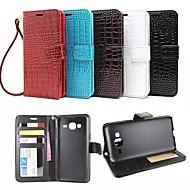 Для Кейс для  Samsung Galaxy Бумажник для карт / Кошелек / со стендом / Флип / Рельефный Кейс для Чехол Кейс для Геометрический рисунок