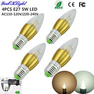 E26/E27 LED gyertyaizzók C35 50 led SMD 3014 Dekoratív Meleg fehér Hideg fehér 450lm 3000/6000K AC 220-240 AC 110-130V