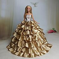 Party / Estélyi Ruhák mert Barbie baba Csipke / Organza Ruha mert Lány Doll Toy