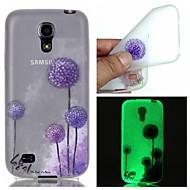 Varten Samsung Galaxy kotelo Hehkuu pimeässä Etui Takakuori Etui Voikukka TPU Samsung S6 edge plus / S6 / S5 / S4 Mini / S3
