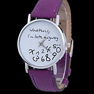 Недорогие Фирменные часы-CURREN Жен. Модные часы Кварцевый Повседневные часы Кожа Группа Аналоговый Черный / Белый / Синий - Розовый Светло-синий Фуксия / Нержавеющая сталь