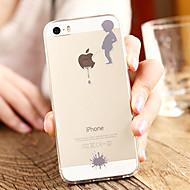 Недорогие Кейсы для iPhone 8-Кейс для Назначение Apple iPhone 8 / iPhone 8 Plus / iPhone 7 Прозрачный / С узором Кейс на заднюю панель Композиция с логотипом Apple Мягкий ТПУ для iPhone 8 Pluss / iPhone 8 / iPhone 7 Plus