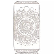 cheap Cases / Covers for Samsung-Case For Samsung Galaxy Samsung Galaxy Case Transparent Pattern Back Cover Flower TPU for J5
