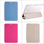 Недорогие Чехлы и кейсы для Galaxy Tab S 10.5-Кейс для Назначение SSamsung Galaxy Чехол Сплошной цвет Кожа PU для