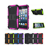 myk silikon hard plast skall holder stand telefon Funda tilfelle for Apple iPod Touch 5