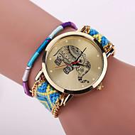 Xu™ Dame Armbåndsur Moteklokke Quartz Hverdagsklokke Stoff Band Blomst Bohemsk Mangefarget