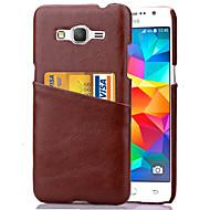 Недорогие Чехлы и кейсы для Galaxy Core Prime-Для Кейс для  Samsung Galaxy Бумажник для карт Кейс для Задняя крышка Кейс для Один цвет PC Samsung Grand Prime / Core Prime