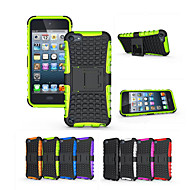 billige iPod-etuier/covers-Blød Silikone Hård Plast Skjold Holder Stå Telefon Tilpasset For Apple Ipod Touch 6