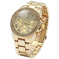 cheap Watch Deals-Decorative Sub-dials Diamond Quartz Watch Stainless Steel Body for Men Wrist Watch Cool Watch Unique Watch