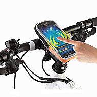 お買い得  -ROSWHEEL 携帯電話バッグ / 自転車用フロントバッグ 4.8 インチ タッチスクリーン, 防水 サイクリング のために iPhone 5/5S / 他の同様のサイズの携帯電話 ブラック / 600Dポリエステル / 防水ファスナー