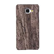 Кейс для Назначение SSamsung Galaxy Кейс для  Samsung Galaxy С узором Задняя крышка Имитация дерева Искусственная кожа для A5(2016)