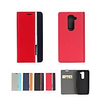 お買い得  携帯電話ケース-ケース 用途 LG G2 / LG G3ミニ / LG G3 LGケース カードホルダー / スタンド付き / フリップ フルボディーケース ソリッド ハード PUレザー のために LG V10 / LG G2 mini / LG G4