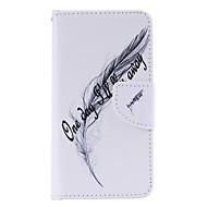 Кейс для Назначение SSamsung Galaxy Кейс для  Samsung Galaxy Бумажник для карт со стендом Флип Магнитный С узором Чехол  Перья