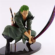 저렴한 -애니메이션 액션 피규어 에서 영감을 받다 One Piece Roronoa Zoro 엔지니어링 플라스틱 18 CM 모델 완구 인형 장난감