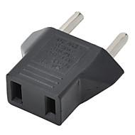 US Plug EU hálózati csatlakozó adapter - fekete