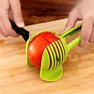 お買い得  世帯の大昇進-ハンドヘルドフルーツスライサートマトカッターレモンポテト卵クリップホルダー