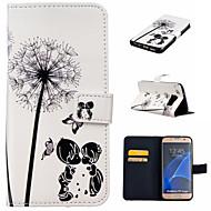 Назначение Samsung Galaxy S7 Edge Чехлы панели Кошелек Бумажник для карт со стендом Флип Чехол Кейс для одуванчик Искусственная кожа для