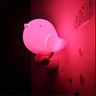linda selva luz do pássaro de luz inteligente de emergência controlada levou luz da noite para decoração kids room casa (cores sortidas)