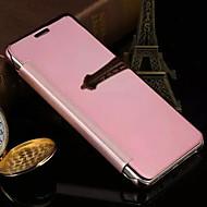 Недорогие Чехлы и кейсы для Galaxy A3(2016)-Кейс для Назначение SSamsung Galaxy Кейс для  Samsung Galaxy Зеркальная поверхность Флип Чехол Сплошной цвет ПК для A7(2016) A5(2016)