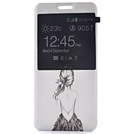 Для Кейс для  Samsung Galaxy со стендом / с окошком / Флип / С узором Кейс для Чехол Кейс для Соблазнительная девушка Искусственная кожа