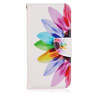 Недорогие Чехлы и кейсы для Galaxy S-Кейс для Назначение SSamsung Galaxy Samsung Galaxy S7 Edge Бумажник для карт Кошелек со стендом Флип Чехол Цветы Кожа PU для S7 edge S7