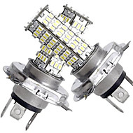 cheap LED Car Bulbs-2 In 1 H4 120 SMD White LED lights 450LM