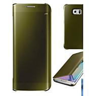 Недорогие Чехлы и кейсы для Galaxy S6 Edge Plus-DE JI Кейс для Назначение SSamsung Galaxy Покрытие / Зеркальная поверхность / Флип Чехол Однотонный Твердый ПК для S6 edge plus / S6 edge / S6 / Прозрачный