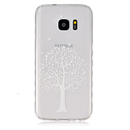 billige Galaxy S2 Etuier-For Samsung Galaxy etui Transparent Etui Bagcover Etui Træ TPU for Samsung S7 S6 edge S6 S5 Mini S5 S4 Mini S4 S3 Mini S3 S2