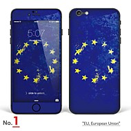 """Недорогие Защитные пленки для iPhone-iphone 6 / 6с тела наклейка кожа искусства: """"ес, европейский союз, Ирландии, Польши, нидерланды, голландия"""" (флаги серия)"""