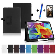 Para con Soporte / Activado/Apagado Automático / Flip Funda Cuerpo Entero Funda Un Color Dura Cuero Sintético Samsung Tab 4 10.1