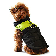 Dog Coat Vest Puffer / Down Jacket Dog Clothes Winter Warm Casual/Daily Keep Warm Color Block Yellow Red Black/Pink Black/Green Black/Blue