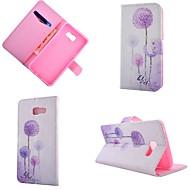 Для Кейс для  Samsung Galaxy Бумажник для карт / со стендом / Флип / С узором / Магнитный Кейс для Чехол Кейс для ОдуванчикИскусственная