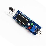 お買い得  Arduino 用アクセサリー-アルドゥイーノ+ラズベリーパイのためのIR障害物回避センサーライン追跡モジュール - ブルー