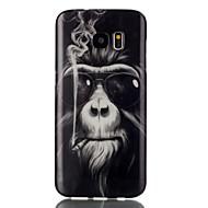 Недорогие Чехлы и кейсы для Galaxy S7 Edge-Кейс для Назначение SSamsung Galaxy Samsung Galaxy S7 Edge С узором Кейс на заднюю панель Животное ТПУ для S7 edge S7
