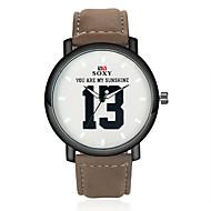 Недорогие Фирменные часы-SOXY Муж. Наручные часы Горячая распродажа Кожа Группа Кулоны Черный / Коричневый