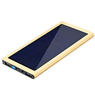 abordables Baterías Externas-banco de la energía de la batería externa 5V 1.0A 2.1A #A Cargador de batería Multisalida Carga Solar Superslim LED