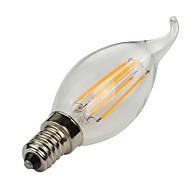 abordables Lámparas LED de Filamentos-1pc 4W 360lm E14 Bombillas de Filamento LED C35L 4 Cuentas LED COB Decorativa Blanco Cálido / Blanco Fresco 220-240V