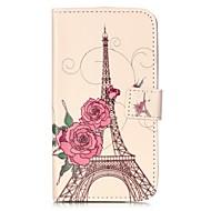 halpa Puhelimen kuoret-Etui Käyttötarkoitus LG K8 LG LG K10 LG K7 LG G5 Korttikotelo Lomapkko Tuella Flip Magneetti Kuvio Suojakuori Eiffel-torni Kova PU-nahka