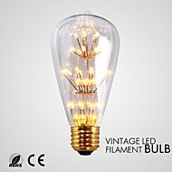 お買い得  LED ボール型電球-1個 1.5 W 140-180 lm ST64 33 LEDビーズ SMD 装飾用 温白色 110-130 V / 1個 / RoHs